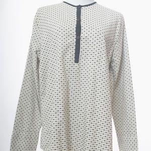 Ace & Jig Large Smock Top Natural Minidot Textile